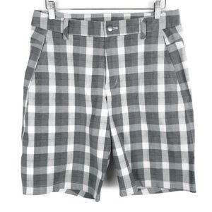 """Lululemon Kahuna Shorts 10"""" Back Pocket Zip Plaid"""